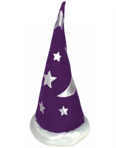 Mens Womens Child Purple Renaissance Costume Merlin Wizard Hat