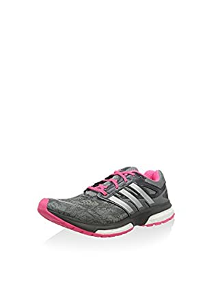 adidas Zapatillas de Running Response Boost Techfit Woman Graph (Gris / Rosa)