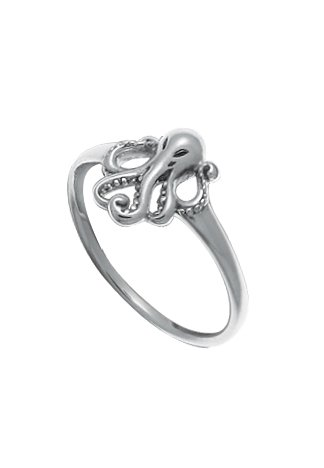 Boma Sterling Silver Octopus Ring, Size 8