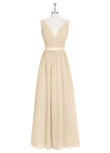 Emyrin A-line Champagne Bridesmaid Dresses Chiffon Charmeuse V Neckline Charmeuse Maternity Bridesmaid Dress