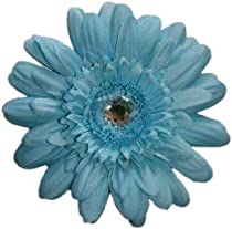 Posies Accessories Large Turquoise Gerber Daisy Hair Clip