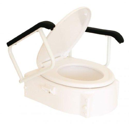 Toilettensitzerhöher mit Armlehnen, Sitzerhöhung WC vom Stock-Fachmann