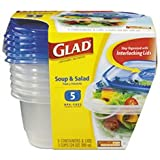 GladWare Soup & Salad 24 oz Containers with Lids 5 ct