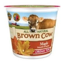 Brown Cow West Maple Smooth And Creamy Cream Top Whole Milk Yogurt, 6 Ounce -- 12 Per Case.
