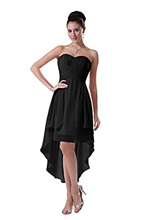 diyouth elegant high low prom dresses chiffon sweetheart formal. Black Bedroom Furniture Sets. Home Design Ideas