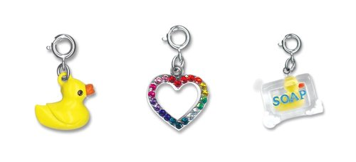 CHARM IT! Set of 3 I Love Ducks Charm Set with Duck in Soap, 3D Duck and Rainbow Heart Charms