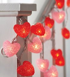 Heart-Shaped String Lights, Set of 2 by Century Point