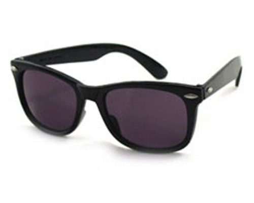 50'S Men'S Black Wayfarer Sunglasses
