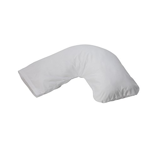 Duro-Med Hugg-A-Pillow Hypoallergenic Bed Pillow, Made in USA, with White Cover
