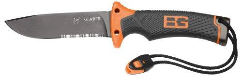 Gerber 31-000751 Bear Grylls Survival Series Ultimate Knife, Serrated Edge