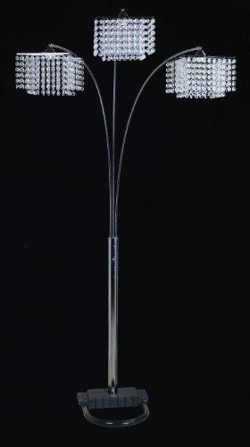 Crystal Arch Floor Lamp 3 Light Classic Modern Lighting
