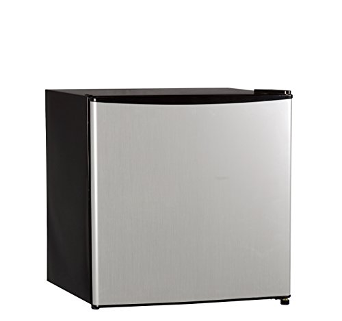Midea Whs-65Lss1 Single Reversible Door Refrigerator And Freezer, 1.6 Cubic Feet, Stainless Steel