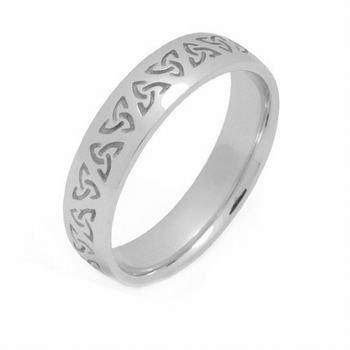 14K Gold 4Mm Celtic Trinity Knot Wedding Band C4008 - Size 4.25