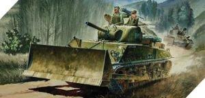 13207 1/35 U.S. Army M4A3 Sherman 105mm w/M1 Dzr Blade (Academy 1 35 Sherman compare prices)