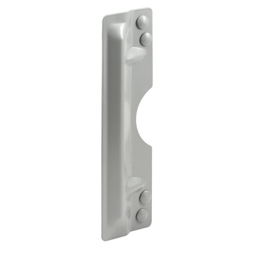 Prime-Line Products U 9503 Latch Shield, 3 in. x 11 in. x 8-5/16 in. & 10 in. Hole Centers, Steel, Gray, Out-swing Doors (Door Guard Plate compare prices)
