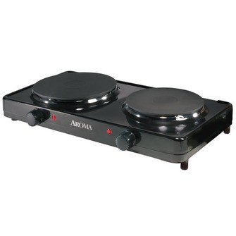 Aroma AHP-312 Double Burner Hot Plate (Aroma Dual Burner Hot Plate compare prices)