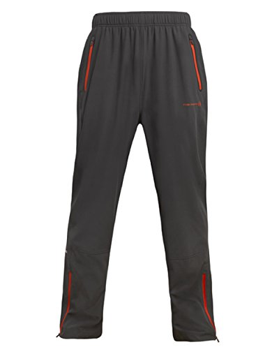 FREE COUNTRY MEN'S AIRY ACTIVE WOVEN PANT DARK CHARCOAL LARGE