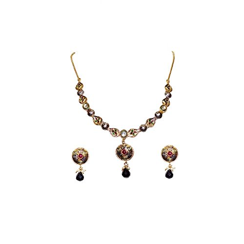 Anjan Antique Traditional Alloy Necklace Set For Women