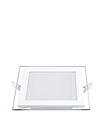 Lights&Deco  Lámpara de Pared/Techo Panel With Glass Recessed Square Blanco