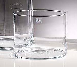 glasvase vase glas blumenvase tischvase zylinder 20 cm. Black Bedroom Furniture Sets. Home Design Ideas