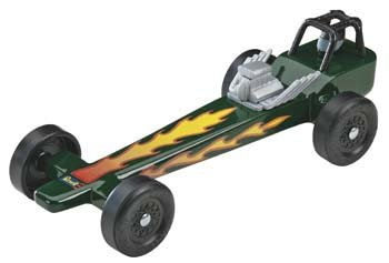 CHEAP Revell Pine Wood Derby Dragster Racer