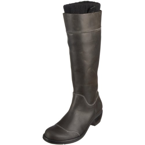 Fly London Women's Mona Mid Calf Boot Leather Anthracite P140527057 3 UK