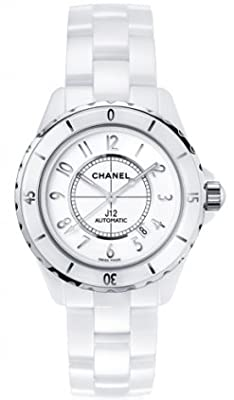 Chanel J12 White Dial Ceramic Automatic Unisex Watch H2981 from Chanel