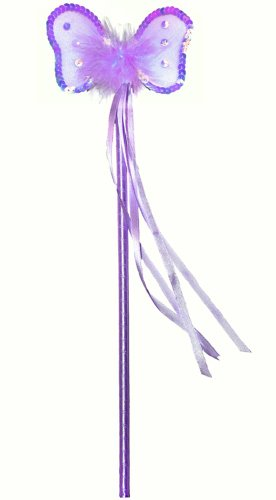 Purple Sequin Nylon Butterfly Fairy Wand Dress Up Halloween Favor Costume