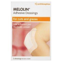 Smith & Nephew Melolin Adhesive Dressings 5 Dressings (8.3cm x 6cm)