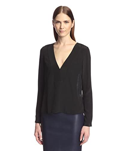 Derek Lam 10 Crosby Women's V-Neck Top with Lace