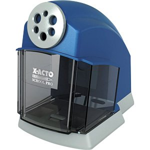Electric Pencil Sharpener, 4-1/2 Quot;X7 Quot;X6-3/6 Quot;, Blue/Gray