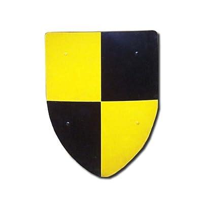 Quarterly Medieval Shield - 16 Gauge Steel Battle Ready - Yellow/Black - One Size