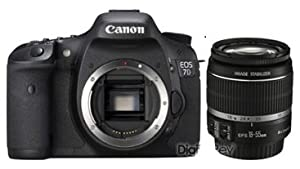 Canon EOS 7D 18 MP CMOS Digital SLR Camera with 3-inch LCD and 18-55mm f/3.5-5.6 IS Standard Zoom Lens