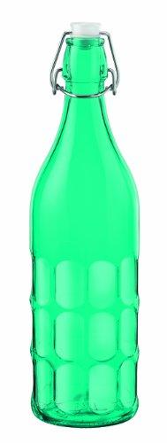Bormioli Rocco Moresca Bottle, 33-3/4-Ounce, Sky Blue front-1024795