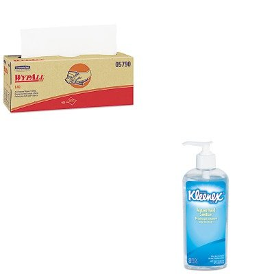 KITKIM05790KIM93060EA - Value Kit - KIMBERLY CLARK WYPALL L40 Cloth-Like Wipes (KIM05790) and KIMBERLY CLARK KLEENEX Instant Hand Sanitizer (KIM93060EA)