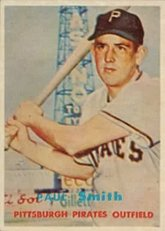 1957 Topps Regular (Baseball) Card# 345 Paul Smith of the Pittsburgh Pirates ExMt... by Topps