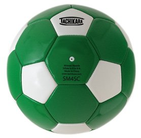 Tachikara SM4SC dual colored soft PU soccer ball, size 4 (kelly/white).
