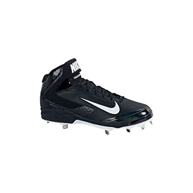 Mens Nike Air Huarache Pro Mid Metal Baseball Cleat Black by Nike Equipment, Inc