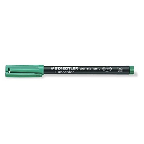 STAEDTLER Lot de 3 Lumocolors marqueur permanent 317M, vert, Tracé 1mm