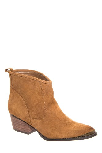 Chinese Laundry Ideal Mid Heel Bootie - Dark Camel
