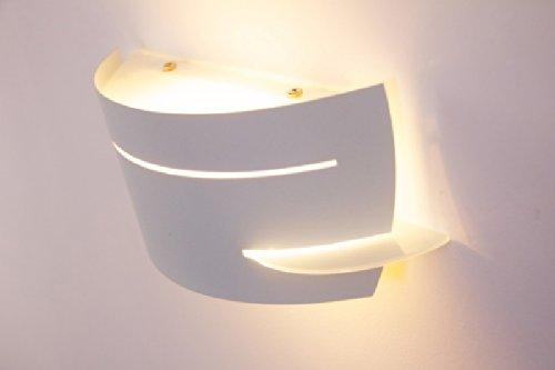 Lampada da parete NEW metallo bianco vetro applique design moderno