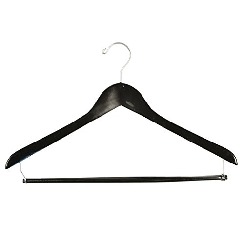 BLACK/Ebony Suit Hanger with Lock Bar (Suit Hanger With Locking Bar compare prices)