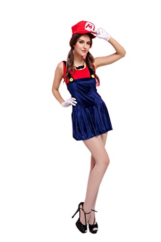 JJ-GOGO Pretty Sexy Plumber Costume (Red) (Sexy Plumber Costume compare prices)
