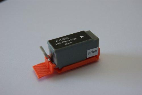 pripa 5 kompatible Patrone - black schwarz - fuer Canon Pixma iP90 iP90v Canon Pixus 50i 80i iP90 Canon Selphi DS700 DS810. Sofortiges Einsetzen der Patrone 100 % Füllstandsanzeige