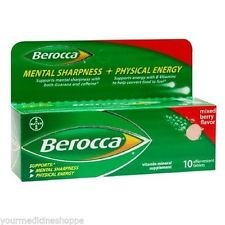 Berocca Mixed Berry Effervescent Tablets 10-Count (Pack Of 4)