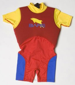 Bare Dolphin Floaty Suit Youth 4 Red/yellow/blue
