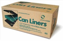 Greencore Recycled Plastic Can Liners 33-39 Gallon (Black) - Case of 150 (Recycle Can Liner compare prices)
