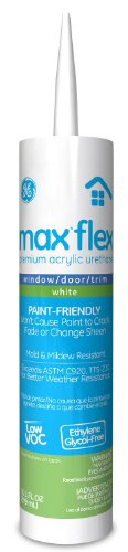 General Electric Ge22764 Max Flex Window/Door/Trim Acrylic Urethane Caulk, 10.1-Ounce, White front-992683