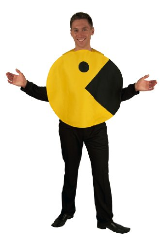 Men's High Quality Pac-Man 2D Profile Adult Costume