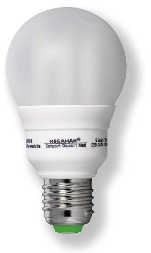 Megaman 610297 ESL COMPACT CLA Energiesparlampe 20W E27 230V 827 matt